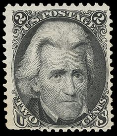 The first Andrew Jackson postage stamp was finally issued in 18 years after his death. Old Stamps, Rare Stamps, Vintage Stamps, Andrew Jackson, My Stamp, Stamp Collecting, American History, American Presidents, Poster