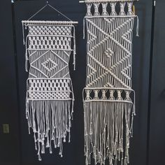 Macrame Panel Wall Hanging Long or Extra Long by NaativStudios