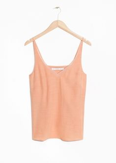 &OtherStories Mesh Panel Tank Top in Apricot, Mesh Panel, Ss16, Black Tank Tops, Basic Tank Top, Ready To Wear, Summer Outfits, Camisole Top, Women Wear, Spring Summer