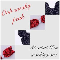 Ooh sneaky peek at a bespoke order!#sparkle #glitter #baby #red #black #girls#hairaccessories#handmade#bows#