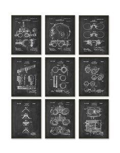 Optometry Patent Print Set Of 9 Optometrist Patent