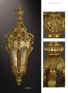 Bespoke carved gilded hall lantern by www.rubensartgallery.com