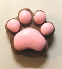 Pawprint Soap sandalwood scent by NostalgieSoaps on Etsy Pawprint, Soap Base, Goat Milk Soap, Home Made Soap, Pink Brown, Fragrance Oil, Homemade, Creative, Goats