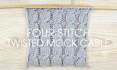 Dig out your needles and give the four stitch twisted mock cable a go this…