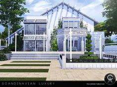 The Sims Resource: Scandinavian Luxury by Pralinesims • Sims 4 Downloads
