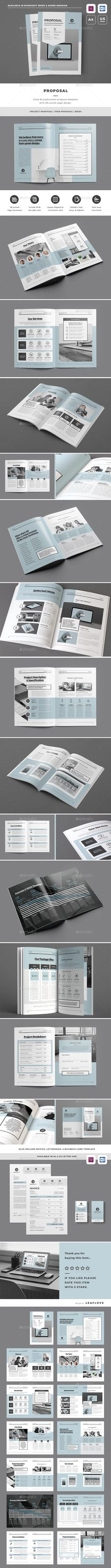 #Proposal - Proposals & #Invoices #Stationery Download here: https://graphicriver.net/item/proposal/18596028?ref=alena994