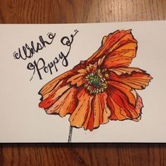 Welsh Poppy #imadethistoday #nofilter by ellen_g_king, via Flickr Project Ideas, Projects, Cursed Child Book, Welsh, Poppy, College, King, Watercolor, Flowers
