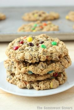 Monster Cookies- Soft Chewy & Flourless