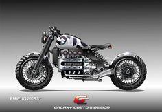 BMW K 1200 RS by Galaxy Custom camo look design by casyus Bmw Cafe Racer, Custom Cafe Racer, Custom Bobber, Cafe Racer Motorcycle, Motorcycle Design, Motorcycle Types, Custom Bikes, Bike Bmw, Cafe Bike