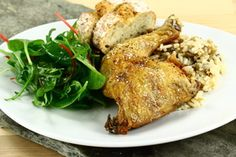Ovnstegt kyllingelår med ris i kyllingesky 4