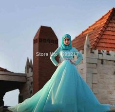 Find More Wedding Dresses Information about Charming Long Sleeve High Neck Wedding Dress 2015 New Designer Sky Blue Tulle Lace Crystal Bridal Gowns Vestido De Noiva Muslim,High Quality dress children,China gowns graduation Suppliers, Cheap dress frame from TZYS wedding dresses on Aliexpress.com