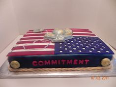Marine Cake This is a cake that I made for a friend whose son just graduated from Marine boot camp