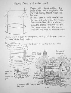 How to Draw Worksheets for Young Artist: How to Draw a Well: Art Lesson and Worksheet