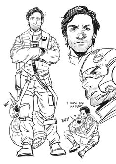OP:Today's TFA sketches   Star Wars