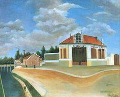 Henri Rousseau: La fabrique de chaises à Alfortville (1906)
