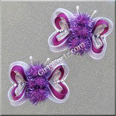 Ultra Purple Butterfly Hair Clip Valentine Hair Clip by GirlyKurlz, $7.20