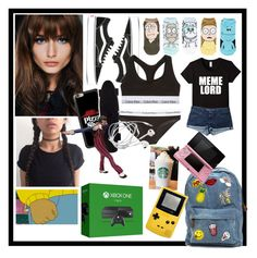 """Robert gender swap 😜🤷🏼♀️"" by xprincessraeganx ❤ liked on Polyvore featuring Vans, Cartoon Network, Casetify, Calvin Klein Underwear, Topshop, Microsoft and Nintendo"