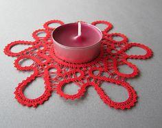 Lucia | Lace Doily for a Tea Light | Lace Home Decor | Handmade Bobbin Lace from Slovenia