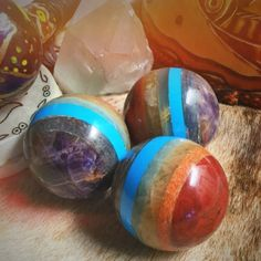 rainbow chakra spheres