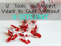 12 Intermediate Quilting Tools that will save you time and money! Plus, a Wonder Clip Giveaway from #cloverusa. | SimplyNotable.com