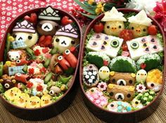Rilakkuma Bento   If I could be this talented... I'd only eat cute food lmao!!!