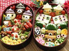 日本人のごはん/お弁当: 5月編; Japanese meals/Bento in May. リラックマ弁当  Rilakkuma Bento If I could be this talented... I'd only eat cute food lmao!!!