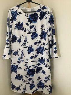 fd2f2e150feb4c Hobbs Safia Ivory & Blue Dress. UK18. BNWOT. 49.99 #fashion #clothing