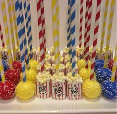 Carnival themed cake pops (O pops by Angie)
