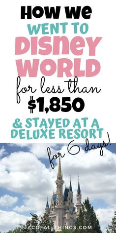 Wondering how to save money on your vacation to Disney World? Learn how you can get the best deal for Disney and save bi. Disney On A Budget, Disney World Vacation Planning, Walt Disney World Vacations, Disney Planning, Packing Tips For Vacation, Cheap Disney Vacation, Vacation Travel, Disney Honeymoon, Best Family Vacations