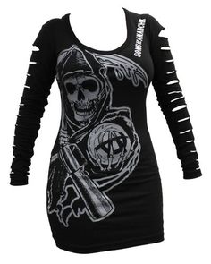 20% Off was $35.00, now is $27.89! Sons of Anarchy Reaper Lazer-cut Long Sleeved Women's Cover-up