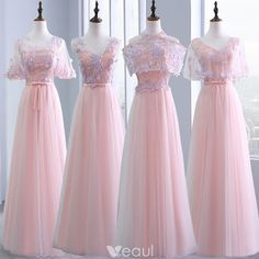 Defiantly number 3 So pretty Pretty Prom Dresses, Pink Prom Dresses, Wedding Dresses For Girls, Grad Dresses, Long Bridesmaid Dresses, Homecoming Dresses, Nice Dresses, Evening Dresses, Peach Gown