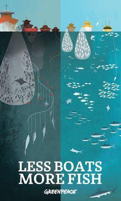 Greenpeace: Less Boats More Fish Poster