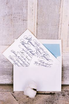 """(#9 invitation)  Love this elegant invitation. It keeps with the """"traditional"""" but the peek of color lining the envelope adds personalization and a touch of modern! #wedding"""