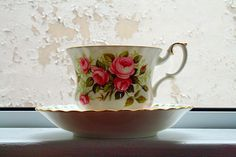 a spot of tea with roses