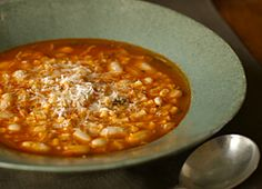 Pasta e Fagioli, or as a substitute for the rice in this chicken soup ...