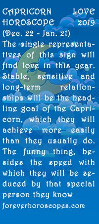 get free info on Capricorn love Horoscope 2019 | forever