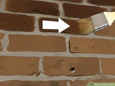 How to Stain Brick. People stain brick for many reasons: to make repairs match the rest of the wall, to complement surrounding decor, or just to create a great color change. Unlike paint, stain will seep into and bond with the brick,. Stained Brick Exterior, Stain Brick, Brick Steps, Brick Pavers, Types Of Bricks, Water Based Stain, Water Stains, Diy Home Crafts, House Painting