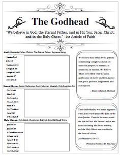 The Godhead - worksheet