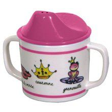 Baby Cie Melamine Sippy Cup with French Words, Princess. Available at OurPamperedHome.com