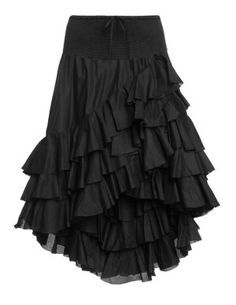 Cotton flamenco skirt in Black designed by Hebbeding to find in Category Skirts at navabi.de