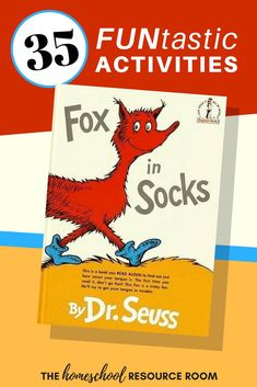 Find 35 of the BEST Fox in Socks activities for kids right here. Hands-on learning, crafts, printables, and worksheets all with your favorite foxy theme!