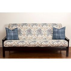 Single Piece Vibrant Blue Queen Size Futon Cover, Form Fitting Style, Printed Design, Easy To Put On And To Remove, Fancy Color, Off White, Tan >>> Read more reviews of the product by visiting the link on the image. (This is an affiliate link) #FutonCoversIdeas