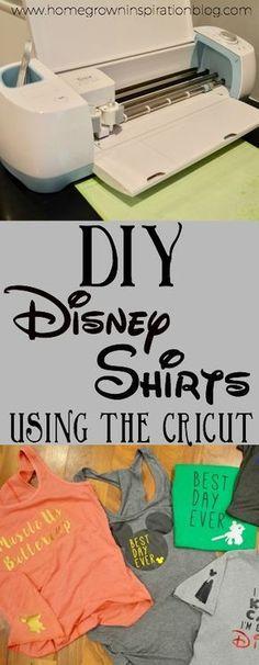DIY Disney shirts using the Cricut