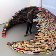 It's a book igloo..... I love every inch of this.