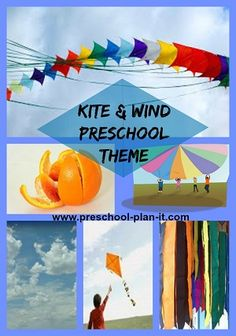 Kite Activities & Wind Preschool Theme Kites and Wind--so much fun! Use this theme to teach about wind, shapes and more in your preschool classroom! This page is filled with preschool activities and ideas for all areas of your classroom. Preschool Projects, Preschool Lesson Plans, Preschool Themes, Preschool Science, Preschool Classroom, Preschool Learning, Teaching Kids, Preschool Weather, Weather Activities
