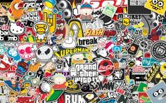 Preview wallpaper stickers, style, jdm