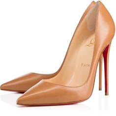 "Christian Louboutin So Kate ""Maya"" N°3 ($675) ❤ liked on Polyvore featuring shoes, pumps, christian louboutin, louboutin, heels, maya, breast pump, high heel pumps, leather pumps and christian louboutin pumps"
