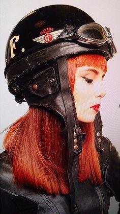 Classic Davida Motorbike Helmet