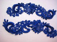 Royal Blue Wedding Garter  Royal Blue by TheLittleWhiteDress, $32.50