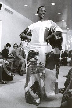 Naomi Sims for Halston Fashion Show, early 1970